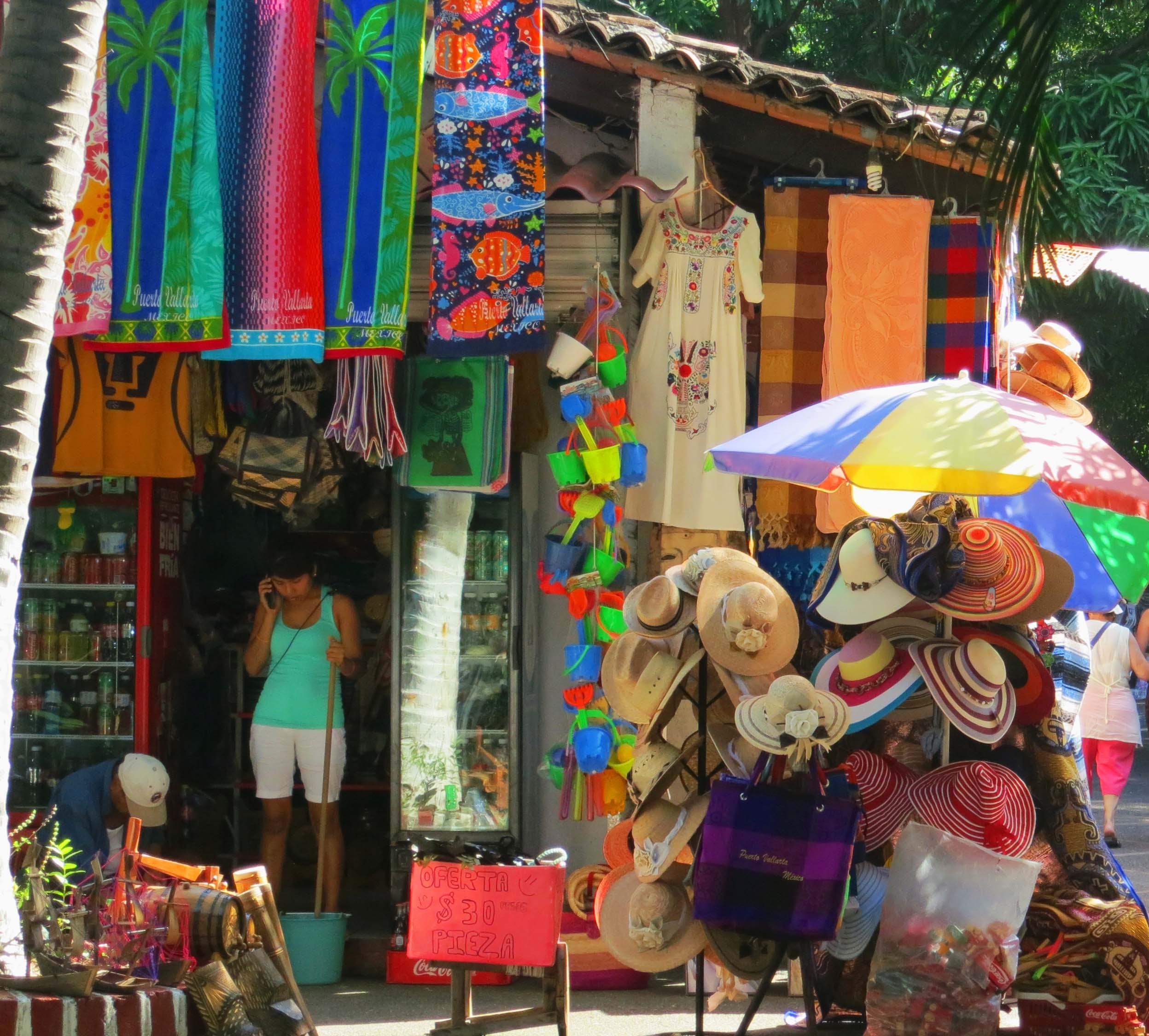 Tourist shop in Puerto Vallarta. Photo by Curtis Mekemson.