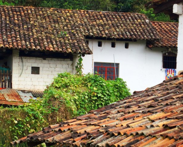 Photo of rooftops in San Sebastian , Mexico. Photo by Curtis Mekemson.