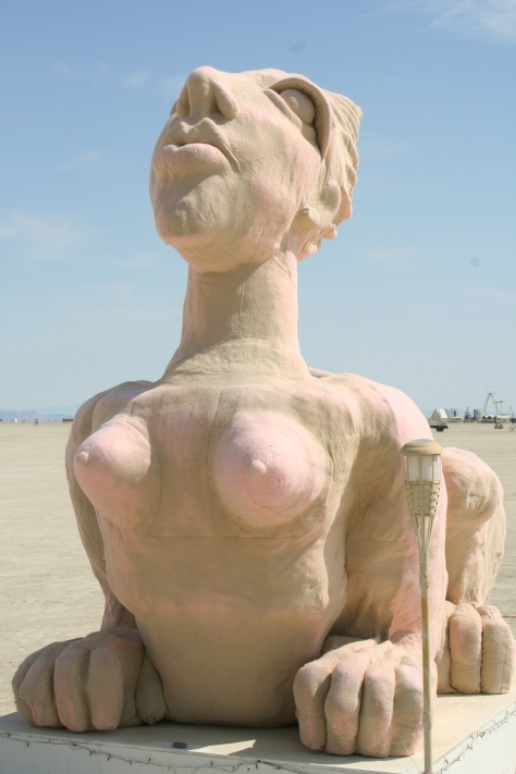 Sphinx sculpture at Burning Man.