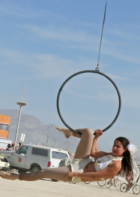 There is always a sense of being at a three ring circus at Burning Man.