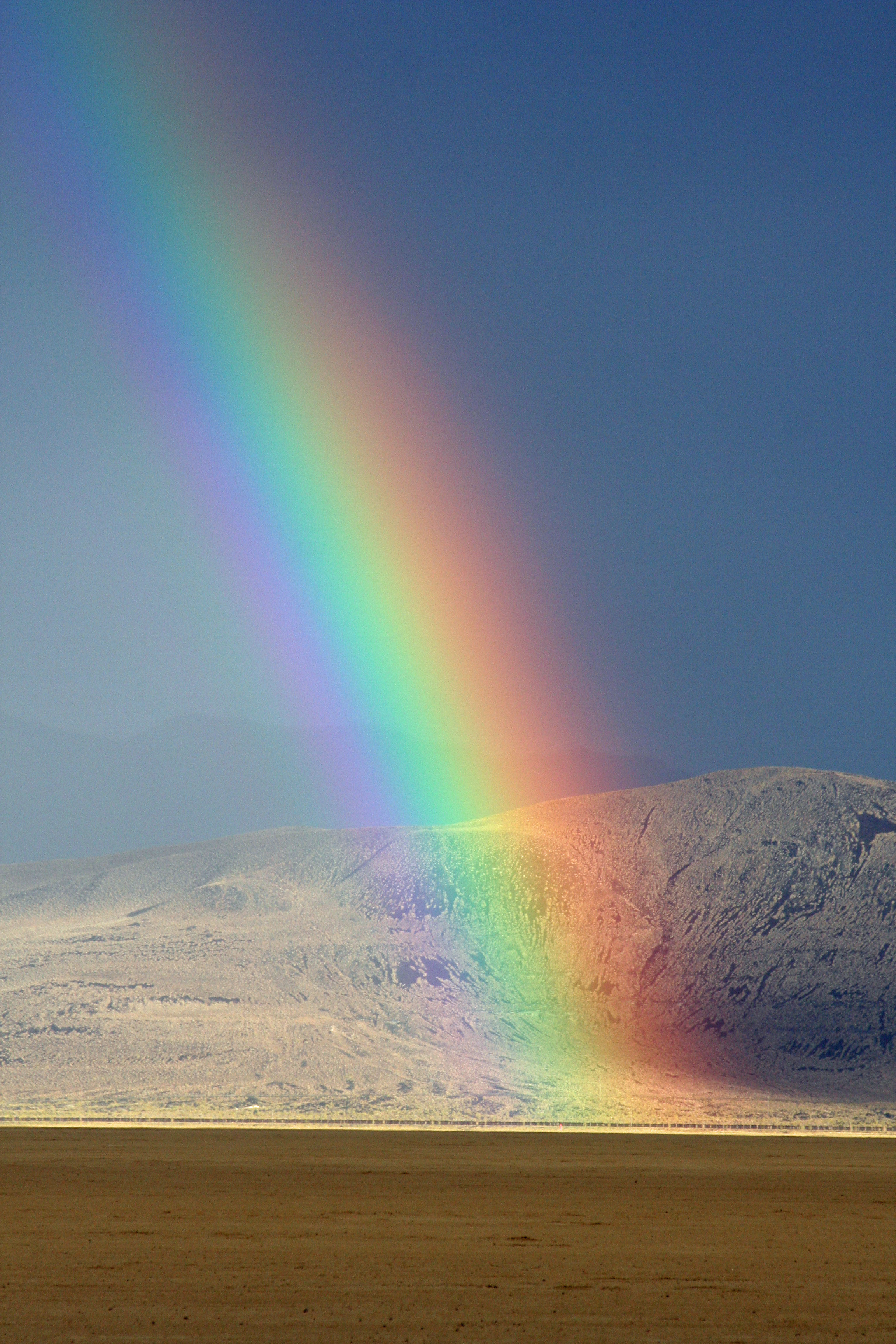 But the desert also has great beauty, as this rainbow at Burning Man demonstrates.