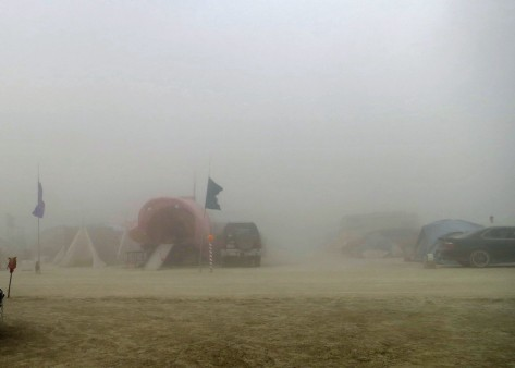 Dust storm at Burning Man.