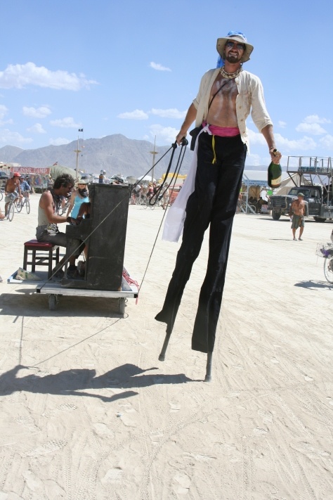 Music is everywhere at Burning Man. Here we have a mobile music player. Who needs an iPod?