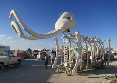 Mutant vehicle mammoth at Burning Man.