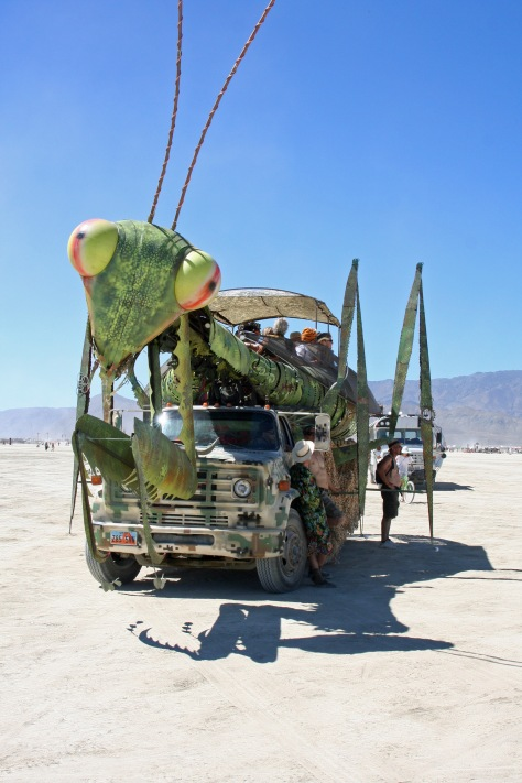 Checking out the hundreds of mutant vehicles at Burning Man is definitely entertainemnt and could take up much of your week.