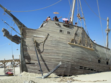 This ship was another very impressive structure at Black Rock City.