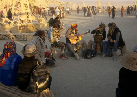 Burning Man jam session at Temple.