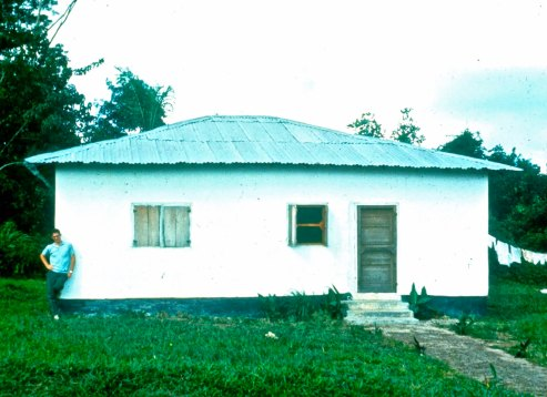 My first house in Liberia when I was teaching second graders. Later I would teach high school students and move to another house.