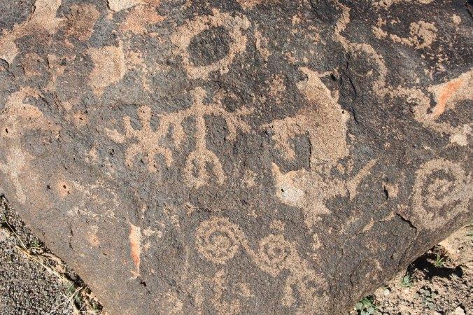 Petroglyphs at Painted Rock Petroglyph Site.