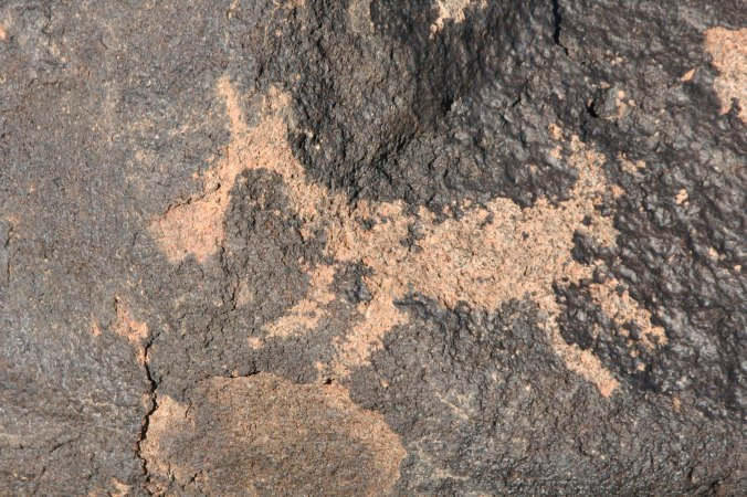 Petroglyph at Painted Rock Petroglyph Site in Southern Arizona. Photo by Curtis Mekemson.