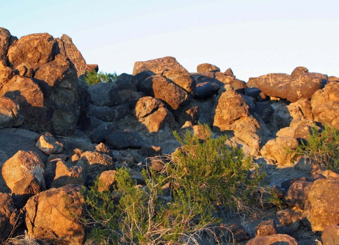 Painted Rock Petroglyph Site in Southern Arizona