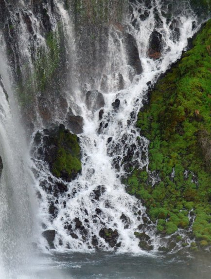 Photo by Peggy Mekemson of Burney Falls in Northern California.