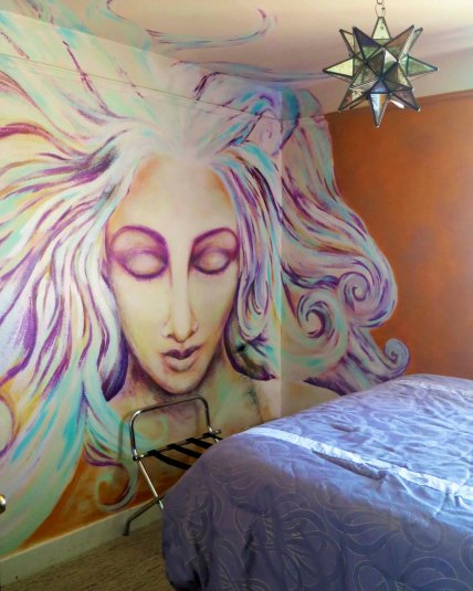 Guest room in the Morris Burner Hotel in Reno, Nevada.