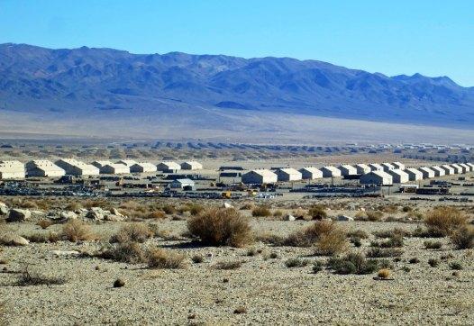 Ammunition bunkers at Hawthorne, Nevada.