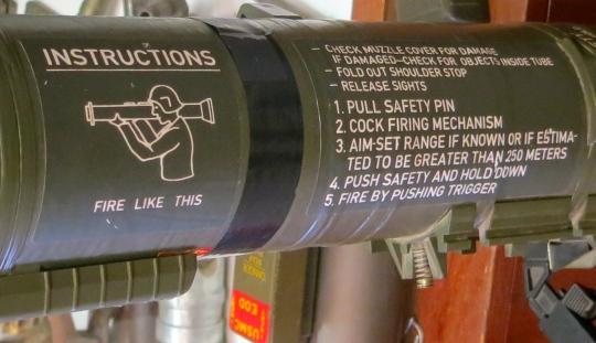 Bazooka at the Hawthorne Museum in Hawthorne, Nevada.