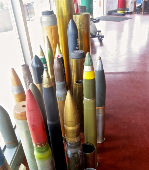 Ammunition at the Hawthorne Ordnance Museum in Hawthorne Nevada.
