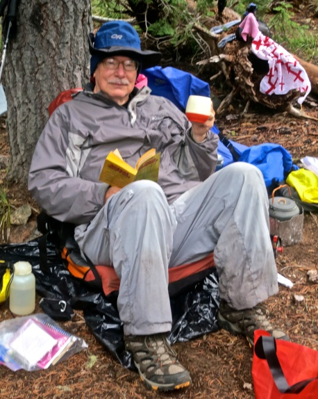 Curtis Mekemson camping in the Red Buttes Wilderness.