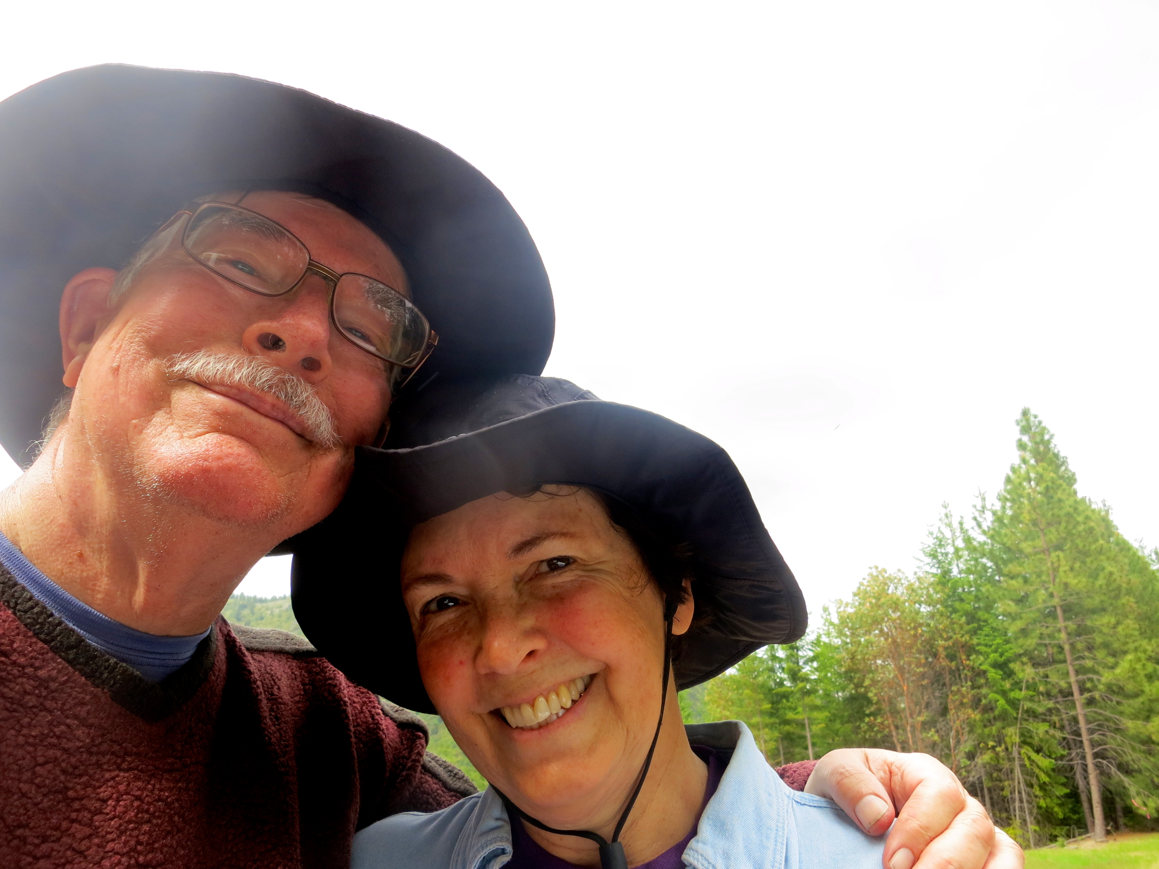 Curtis and Peggy Mekemson in Red Buttes Wilderness.
