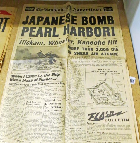During World War II, most of the munitions used by Allied Forces in the Pacific were stored at Hawthorne. This is an original paper displayed in the museum.
