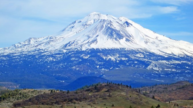 Mt. Shasta is one of the world's most beautiful mountains. Driving up I-5 through Northern California on a clear day presents this view.