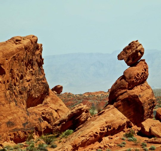 Balanced Rock in the Valley of Fire State Park, Nevada. Photo by Curtis Mekemson.