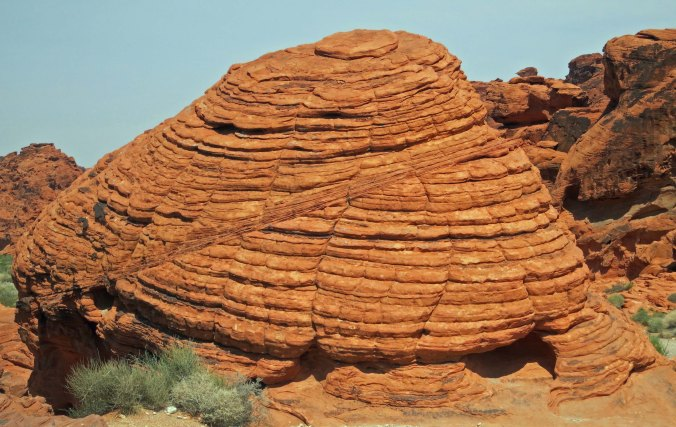 The Beehive Rock in Valley of Fire State Park outside of Las Vegas, Nevada.