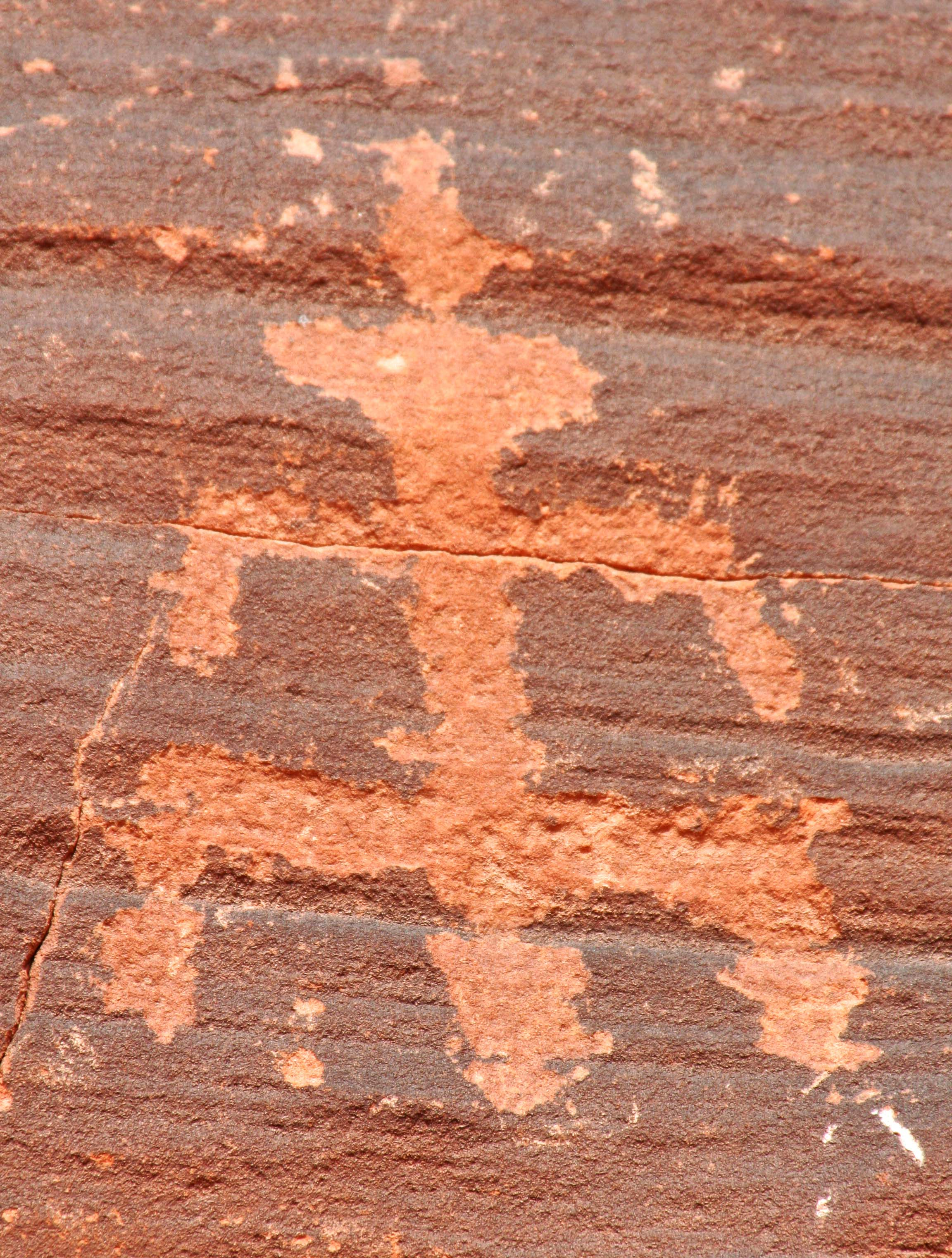 Petroglyph showing birth at Nevada's Valley Of Fire State Park.