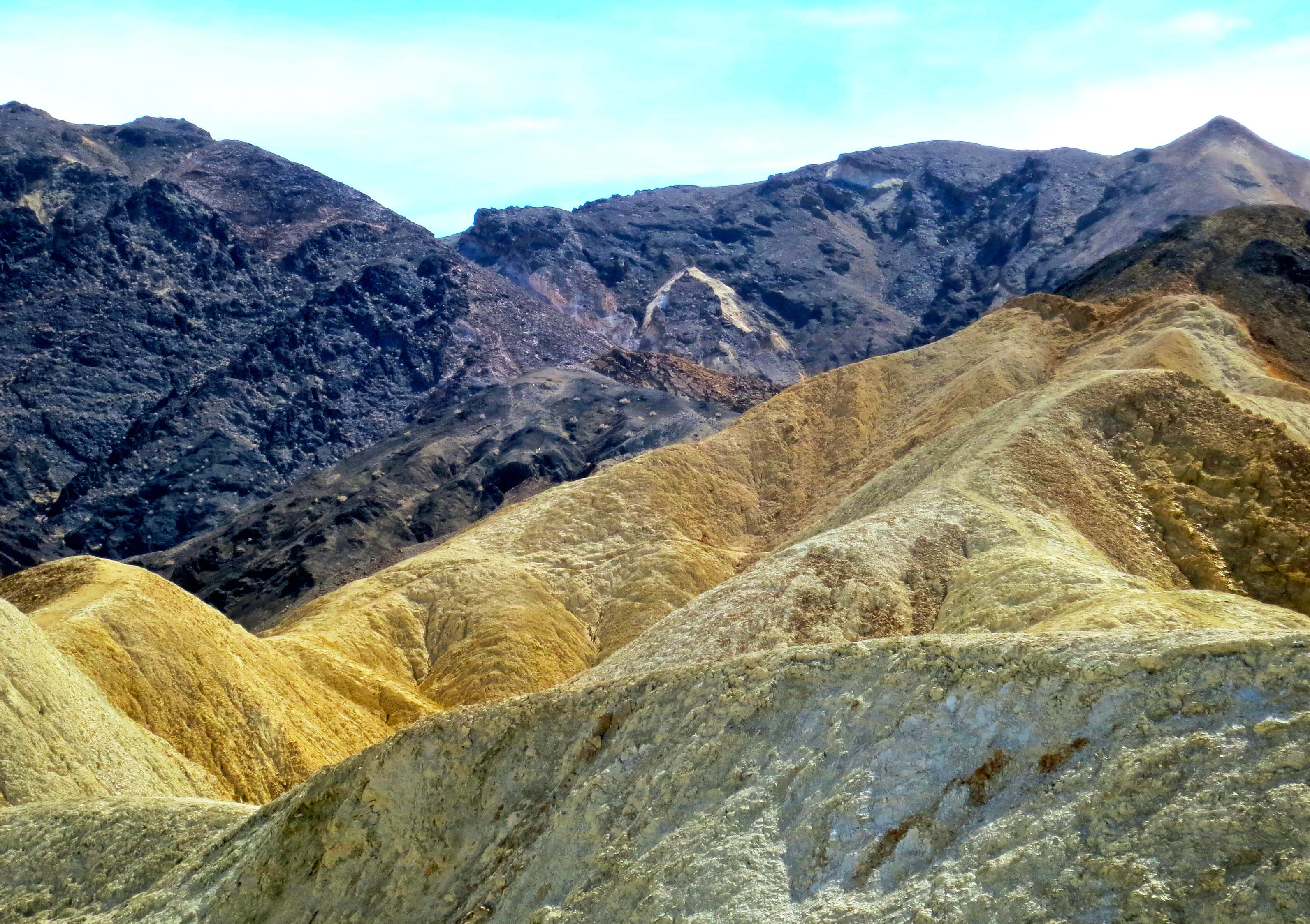 A final view of the riotous colors found in Twenty Mule Team Canyon.