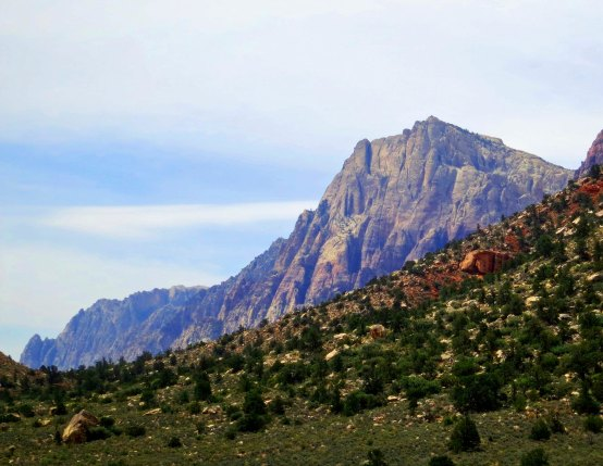 Scenic mountain in Red Rock Canyon National Conservation Area.