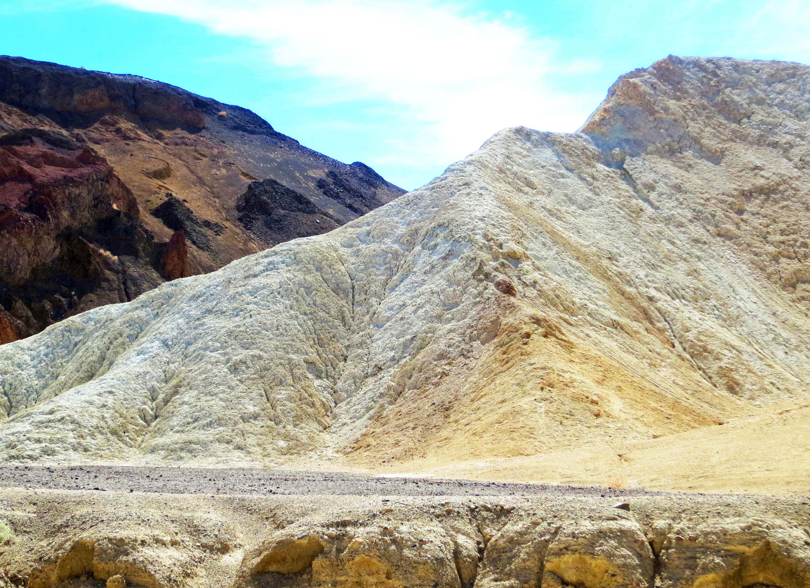 View along the Twenty Mule Team Canyon road in Death Valley.