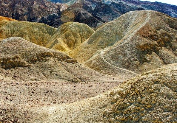 Trail in Twenty Mule Team Canyon, Death Valley.