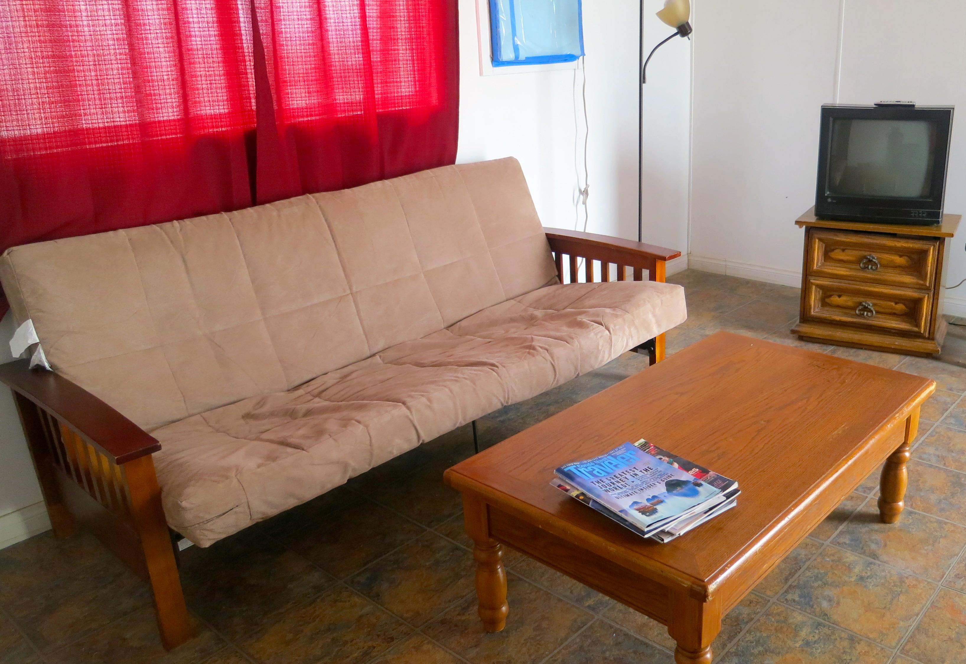 Motel room at Little A'le'Inn in Rachel, Nevada.
