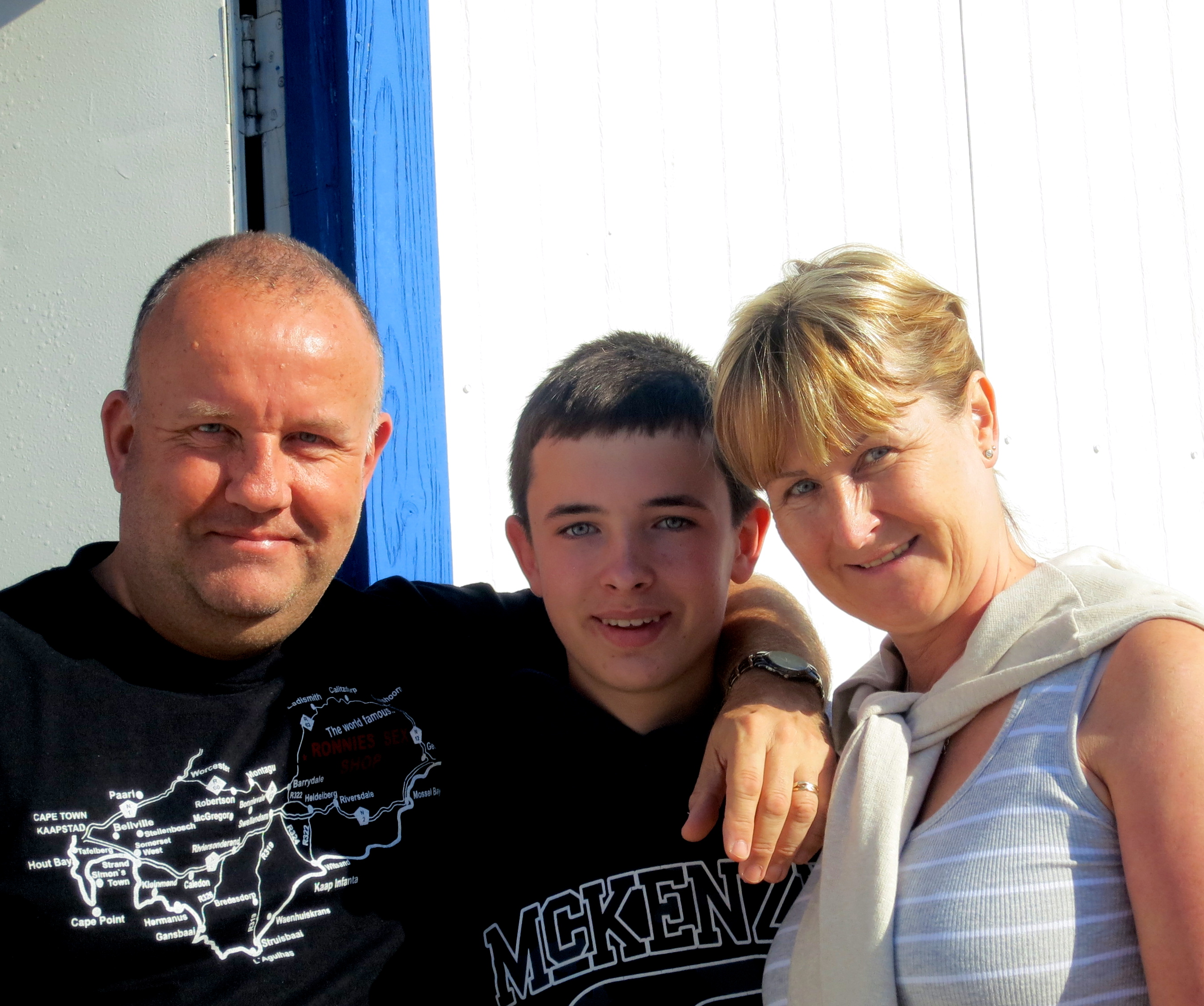 Roy, Brian, and Lynne Hibbert from Bolton, England.