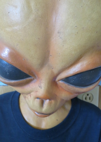 An alien at the Little A'le'Inn in Rachel, Nevada.