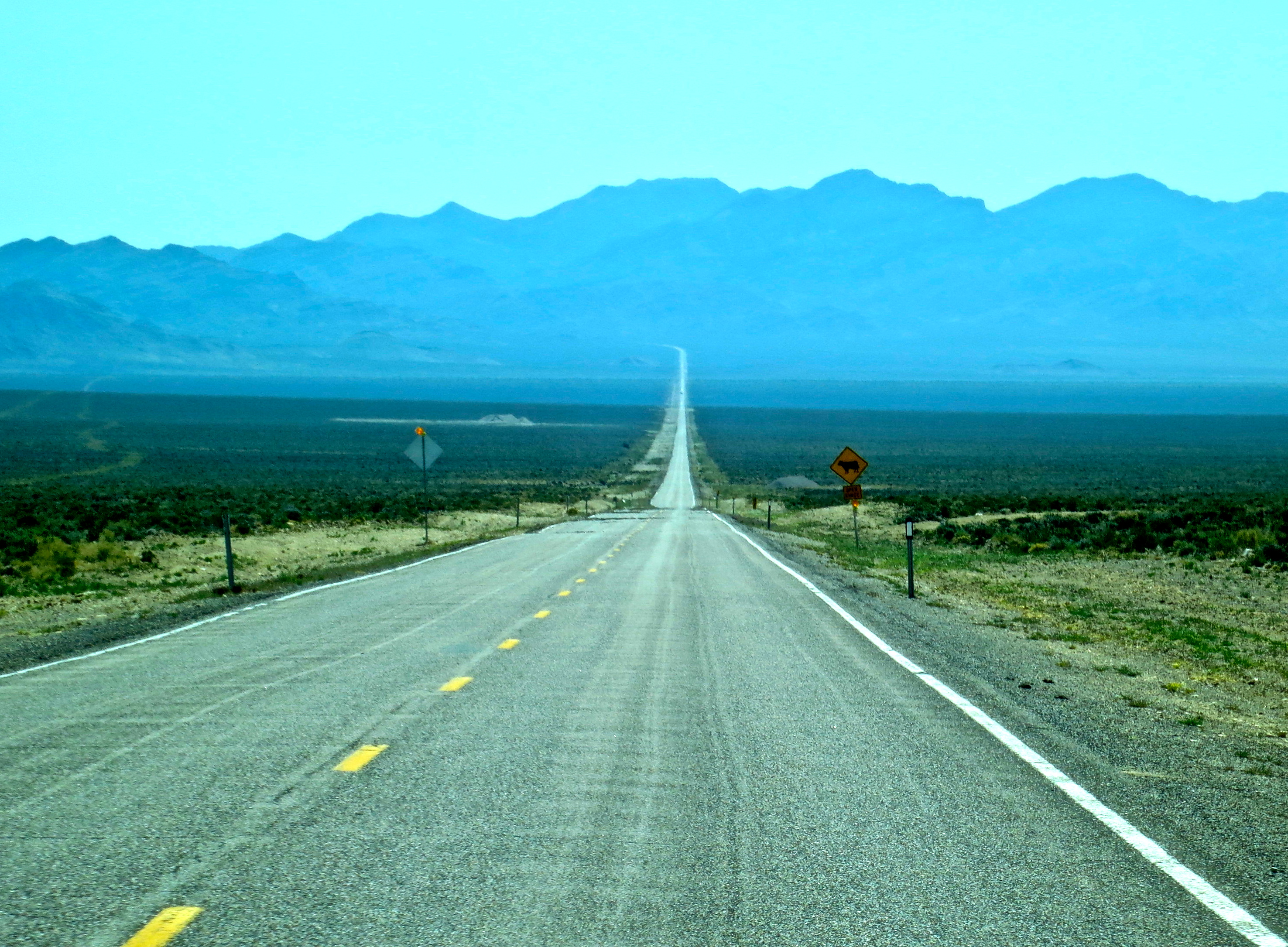 The Extraterrestrial Highway of Southern Nevada.