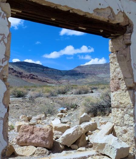 Rhyolite Nevada view.