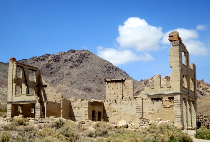 Cook Bank in the ghost town of Rhyolite, Nevada.