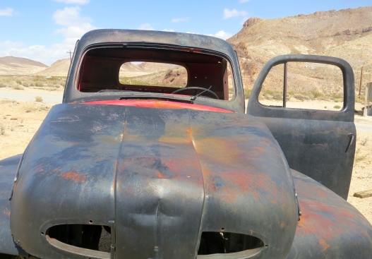 An old truck in the ghost town of Rhyolite, Nevada.