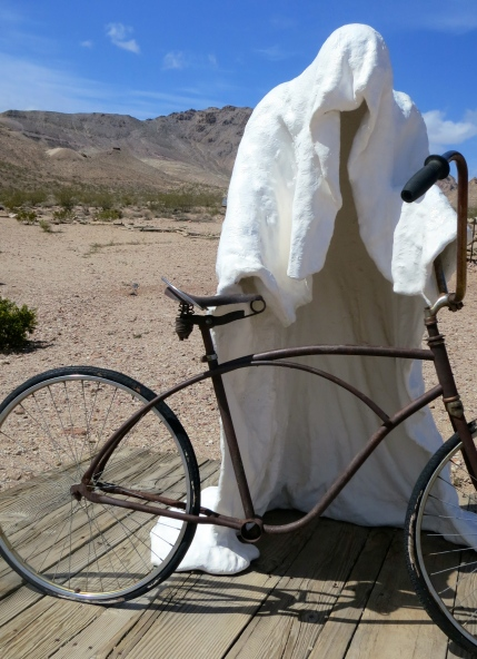 Ghost Rider Sculpture by Albert Szukalski at the Goldwell Open Air Museum east of Death Valley.
