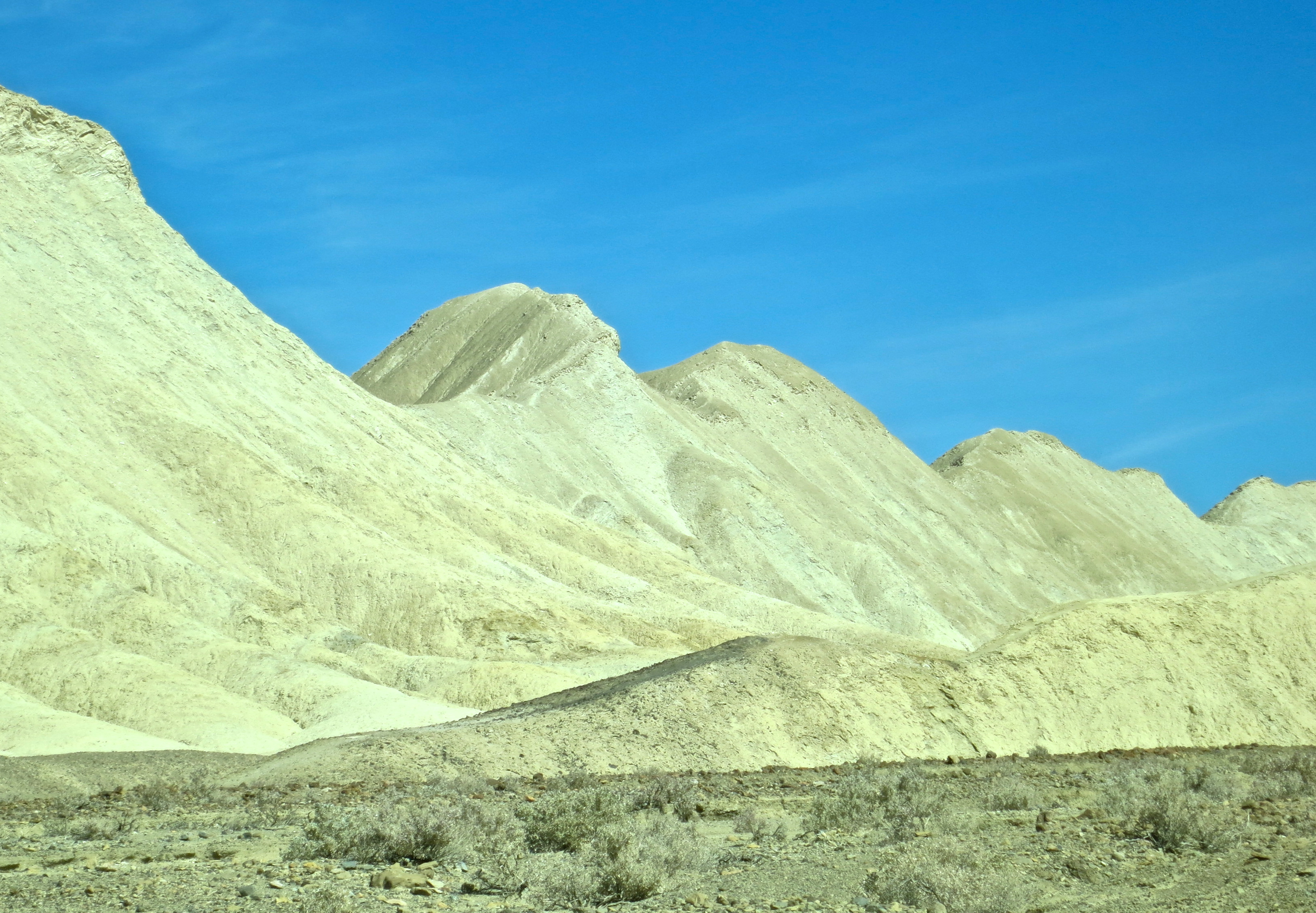 Dramatic view along Twenty Mule Team Canyon road in Death Valley.