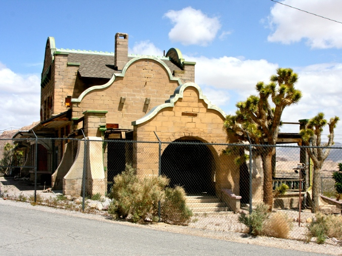 The old railway station at Rhyolite, Nevada.