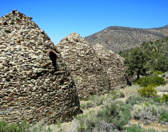 Back view of charcoal kilns in Death Valley.