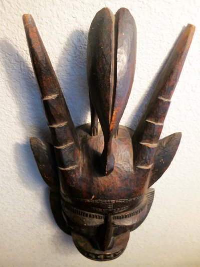 African medicine mask from the Ivory Coast.