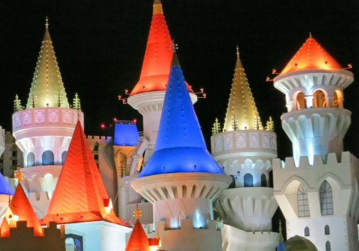 Most of the older casinos in Las Vegas have now been replaced with fantasy creations that out-Disney Disney.