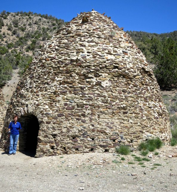Charcoal kiln in Panamint Mountains in Death Valley.