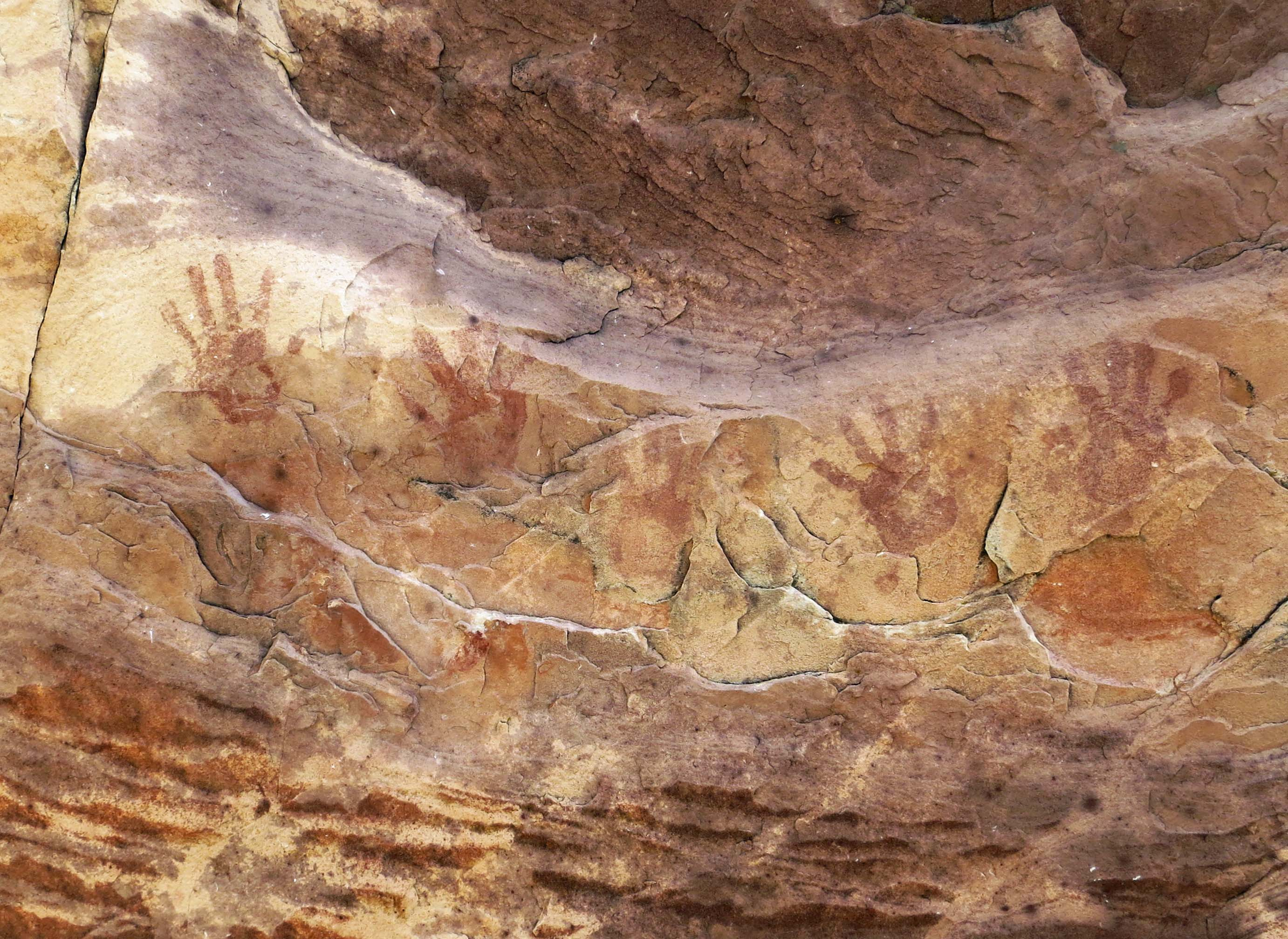 Pictoglyphs found in Red Rock Canyon National Conservation Area.