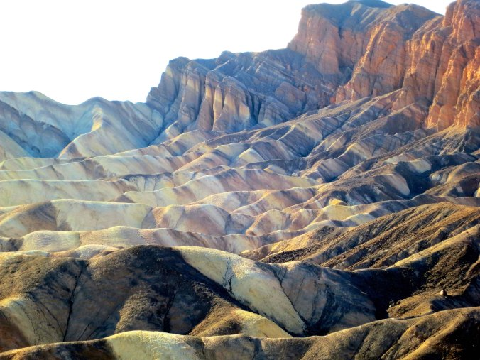 Peggy and I were at Zabriskie Point in the late afternoon. The rocks above Manly Beacon seemed to take on an inner glow.