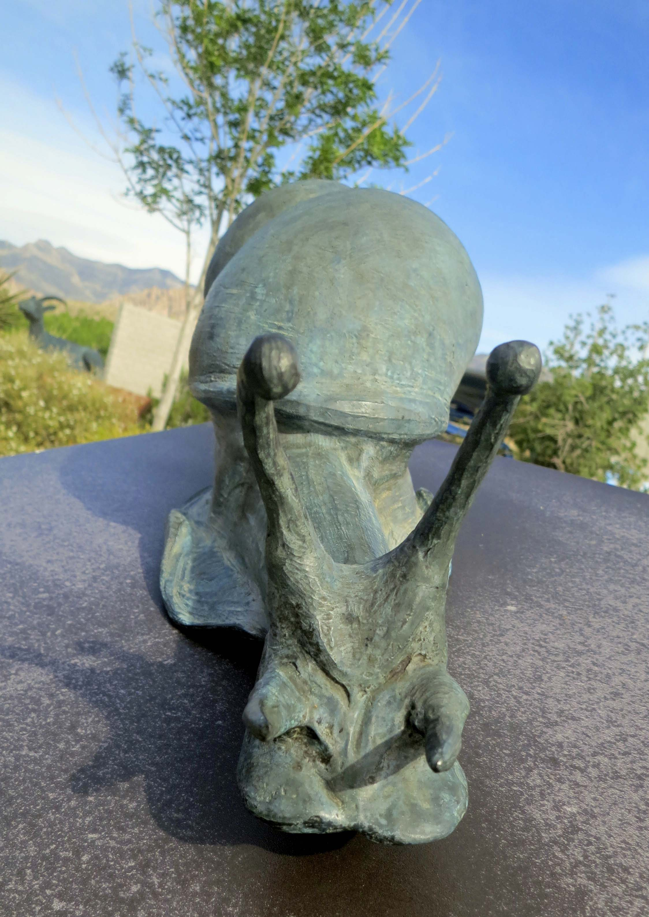 Be sure to stop off at the Visitor's Center for an overview of Red Rock Canyon. In addition to having excellent information on the park, it includes lots of fun things like this kid-sized snail sculpture.