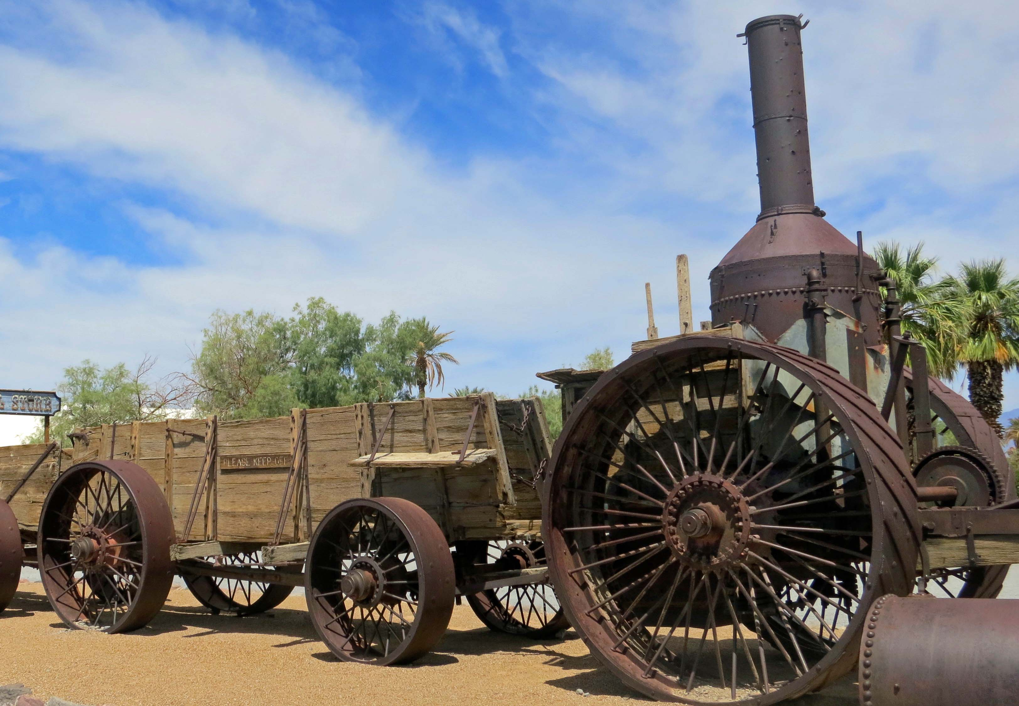 Old Dinah steam tractor in Death Valley National Park.
