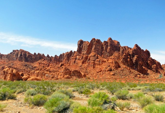 Valley of Fire State Park scenic view.